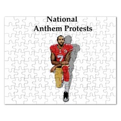 National Anthem Protest Rectangular Jigsaw Puzzl by Valentinaart
