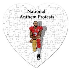 National Anthem Protest Jigsaw Puzzle (heart) by Valentinaart