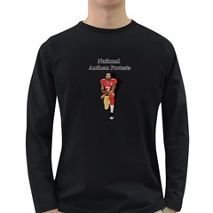 National Anthem Protest Long Sleeve Dark T Shirts by Valentinaart