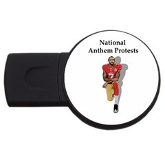 National Anthem Protest Usb Flash Drive Round (4 Gb) by Valentinaart