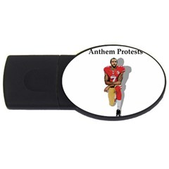 National Anthem Protest Usb Flash Drive Oval (4 Gb)