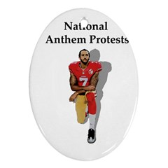 National Anthem Protest Oval Ornament (two Sides) by Valentinaart