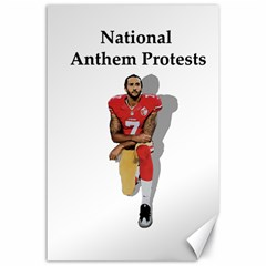 National Anthem Protest Canvas 24  X 36  by Valentinaart