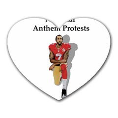 National Anthem Protest Heart Mousepads by Valentinaart