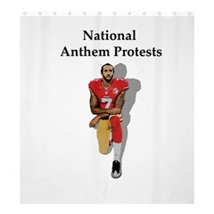 National Anthem Protest Shower Curtain 66  X 72  (large)  by Valentinaart