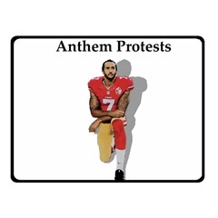 National Anthem Protest Fleece Blanket (small)