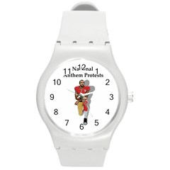 National Anthem Protest Round Plastic Sport Watch (m) by Valentinaart