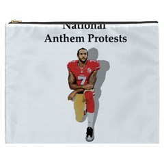 National Anthem Protest Cosmetic Bag (xxxl)  by Valentinaart