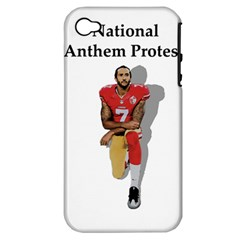 National Anthem Protest Apple Iphone 4/4s Hardshell Case (pc+silicone) by Valentinaart