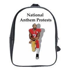 National Anthem Protest School Bag (xl) by Valentinaart