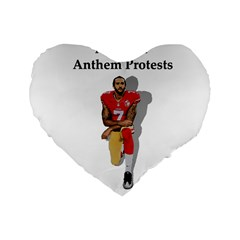 National Anthem Protest Standard 16  Premium Heart Shape Cushions by Valentinaart