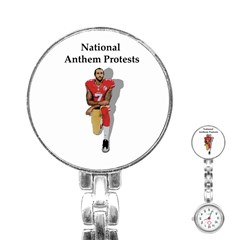National Anthem Protest Stainless Steel Nurses Watch by Valentinaart