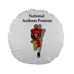 National Anthem Protest Standard 15  Premium Flano Round Cushions by Valentinaart