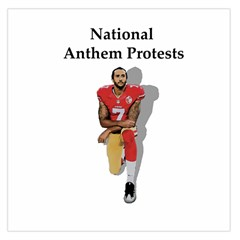 National Anthem Protest Large Satin Scarf (square) by Valentinaart