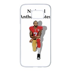National Anthem Protest Samsung Galaxy S7 Edge White Seamless Case by Valentinaart