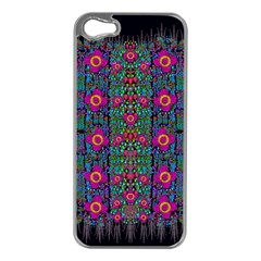 Flowers From Paradise Colors And Star Rain Apple Iphone 5 Case (silver) by pepitasart