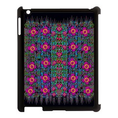 Flowers From Paradise Colors And Star Rain Apple Ipad 3/4 Case (black) by pepitasart