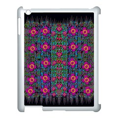 Flowers From Paradise Colors And Star Rain Apple Ipad 3/4 Case (white) by pepitasart