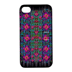 Flowers From Paradise Colors And Star Rain Apple Iphone 4/4s Hardshell Case With Stand by pepitasart