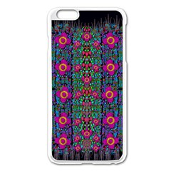 Flowers From Paradise Colors And Star Rain Apple Iphone 6 Plus/6s Plus Enamel White Case by pepitasart