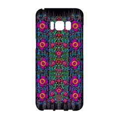 Flowers From Paradise Colors And Star Rain Samsung Galaxy S8 Hardshell Case  by pepitasart