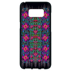 Flowers From Paradise Colors And Star Rain Samsung Galaxy S8 Black Seamless Case by pepitasart
