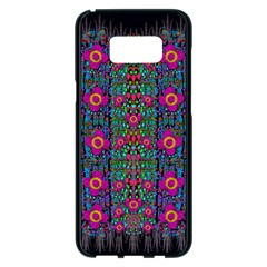 Flowers From Paradise Colors And Star Rain Samsung Galaxy S8 Plus Black Seamless Case by pepitasart