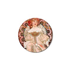 Alfons Mucha   F  Champenois Imprimeur ¨|diteur Golf Ball Marker (10 Pack) by 8fugoso