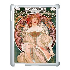Alfons Mucha   F  Champenois Imprimeur ¨|diteur Apple Ipad 3/4 Case (white) by 8fugoso