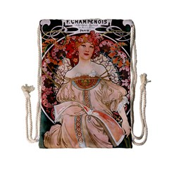 Alfons Mucha   F  Champenois Imprimeur ¨|diteur Drawstring Bag (small) by 8fugoso