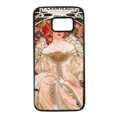 Alfons Mucha   F  Champenois Imprimeur ¨|diteur Samsung Galaxy S7 Black Seamless Case by 8fugoso