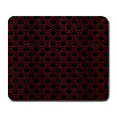 Scales2 Black Marble & Reddish Brown Wood (r) Large Mousepads by trendistuff