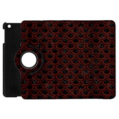 Scales2 Black Marble & Reddish Brown Wood (r) Apple Ipad Mini Flip 360 Case by trendistuff
