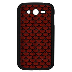 Scales3 Black Marble & Reddish Brown Wood Samsung Galaxy Grand Duos I9082 Case (black) by trendistuff