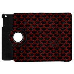 Scales3 Black Marble & Reddish Brown Wood (r) Apple Ipad Mini Flip 360 Case by trendistuff