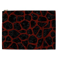 Skin1 Black Marble & Reddish Brown Wood Cosmetic Bag (xxl)  by trendistuff