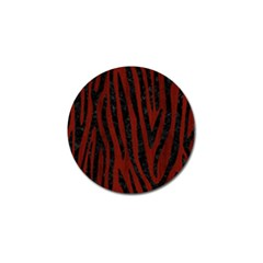Skin4 Black Marble & Reddish Brown Wood (r) Golf Ball Marker (4 Pack) by trendistuff