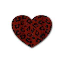 Skin5 Black Marble & Reddish Brown Wood (r) Heart Coaster (4 Pack)  by trendistuff