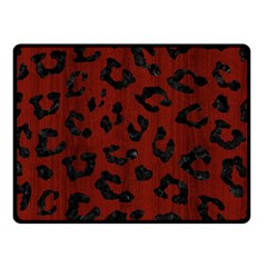 Skin5 Black Marble & Reddish Brown Wood (r) Double Sided Fleece Blanket (small)  by trendistuff