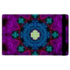 Sunshine Mandala And Fantasy Snow Floral Apple Ipad 3/4 Flip Case by pepitasart