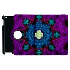 Sunshine Mandala And Fantasy Snow Floral Apple Ipad 2 Flip 360 Case