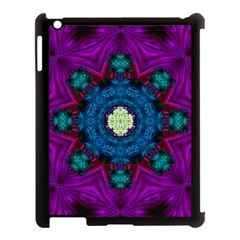Sunshine Mandala And Fantasy Snow Floral Apple Ipad 3/4 Case (black) by pepitasart