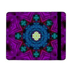 Sunshine Mandala And Fantasy Snow Floral Samsung Galaxy Tab Pro 8 4  Flip Case by pepitasart