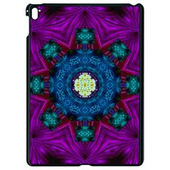 Sunshine Mandala And Fantasy Snow Floral Apple Ipad Pro 9 7   Black Seamless Case by pepitasart