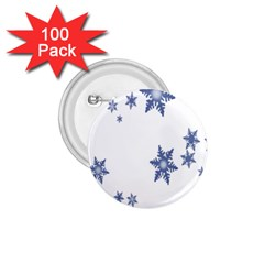 Star Snow Blue Rain Cool 1 75  Buttons (100 Pack)  by AnjaniArt