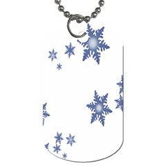 Star Snow Blue Rain Cool Dog Tag (two Sides) by AnjaniArt