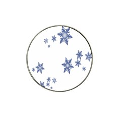 Star Snow Blue Rain Cool Hat Clip Ball Marker by AnjaniArt
