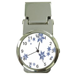 Star Snow Blue Rain Cool Money Clip Watches by AnjaniArt