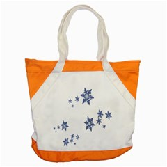 Star Snow Blue Rain Cool Accent Tote Bag