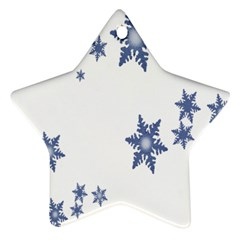 Star Snow Blue Rain Cool Star Ornament (two Sides) by AnjaniArt